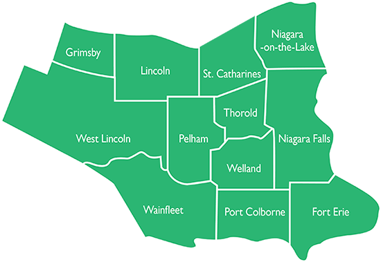 map of niagara region
