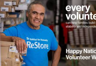 every volunteer can help famlies build strength,  stability and independence. happy national volunteer week