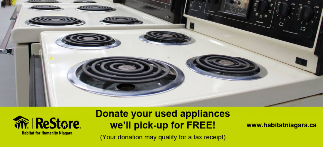 Donate your used appliances image.