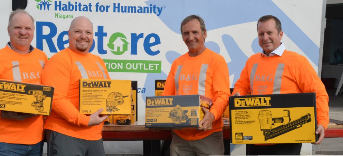 Habitat gets support during recent tool theft image.